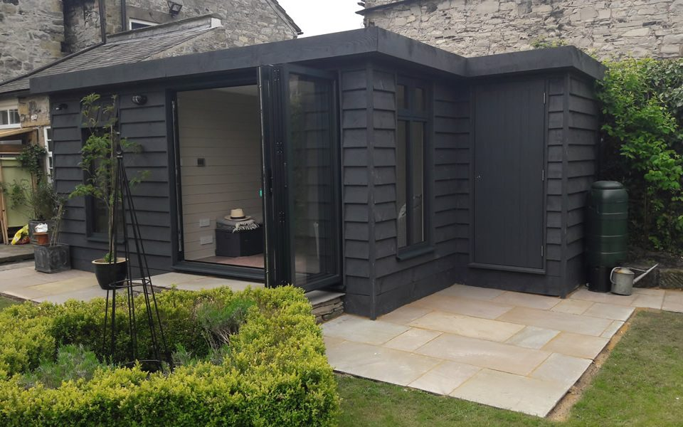 Painted garden room