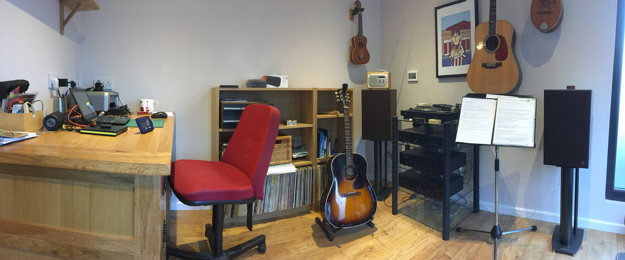 Interior of musician's room