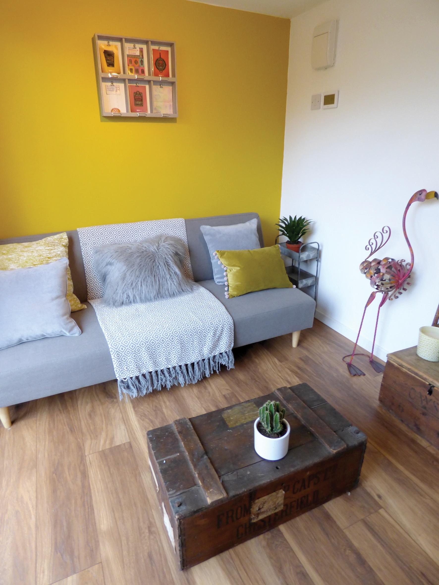 Painted garden room